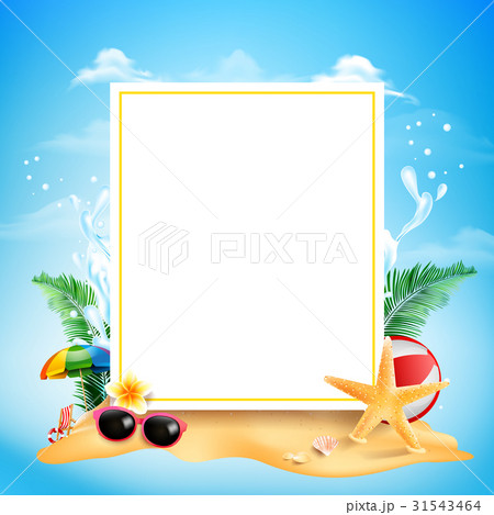 blank square rectangle banner with copy のイラスト素材 31543464