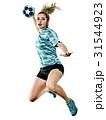 young teenager girl woman Handball player isolated 31544923