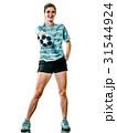 young teenager girl woman Handball player isolated 31544924