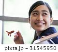 笑顔 振り向く 女子高生の写真 31545950