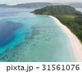 ビーチを空撮!白い砂!青い海!西表島のイダの浜 31561076