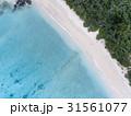 ビーチを空撮!白い砂!青い海!西表島のイダの浜 31561077