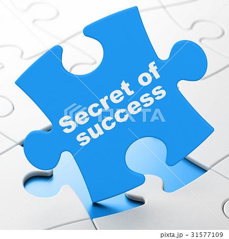 Finance concept: Secret of Success on puzzle 31577109