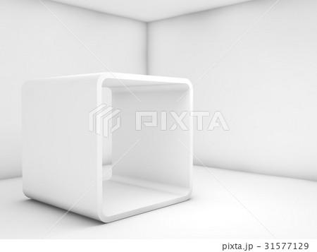 3d contemporary design. Room with chamfer boxのイラスト素材 [31577129] - PIXTA