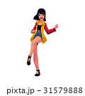 女性 ベクトル 90年代のイラスト 31579888