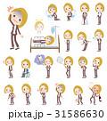 女性 人物 ビジネスのイラスト 31586630