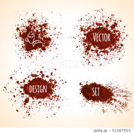 Set of brown vector grunge banners.のイラスト素材 [31587455] - PIXTA