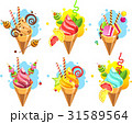 Set of ice cream 31589564