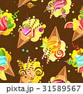 Cake seamless pattern 31589567