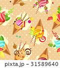 Cake seamless pattern 31589640