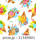 Cake seamless pattern 31589801