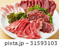 焼肉 豚肉 牛肉の写真 31593103
