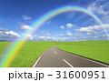 草原の道と雲と虹 31600951