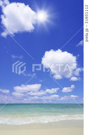 砂浜と太陽 31601112