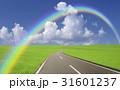 草原の道と雲と虹 31601237