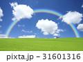 雲 草原 虹のイラスト 31601316