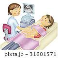 女性 人物 超音波検査のイラスト 31601571