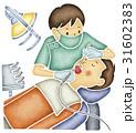 歯の治療をする歯科医 31602383