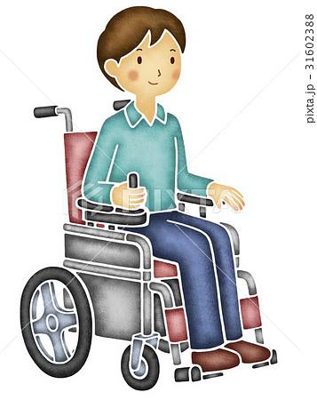 電動車いすに乗る男性 31602388