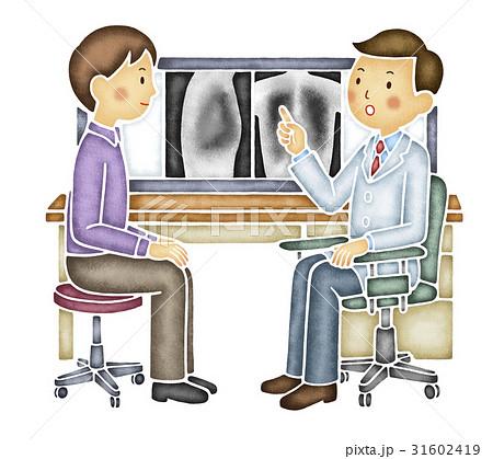 レントゲン写真で説明する医者 31602419