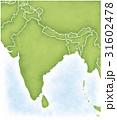 インドとその周辺の地図 31602478