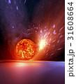 ブラックホールと膨張惑星 31608664