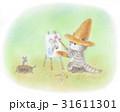 麦わら帽子をかぶった猫・お絵描き 31611301