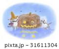 麦わら帽子をかぶった猫・ハロウィン 31611304