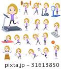女性 白人 トレーニングのイラスト 31613850