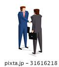 握手 ビジネスマン 男性のイラスト 31616218