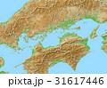 3DCG 地図 四国地方のイラスト 31617446