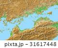 3DCG 地図 四国地方のイラスト 31617448