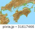 3DCG 地図 四国地方のイラスト 31617466