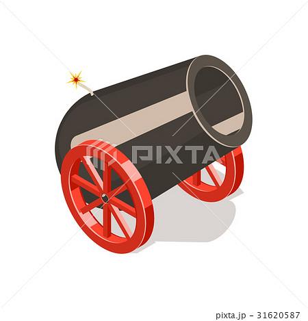 Cannon isolated on white background.のイラスト素材 [31620587] - PIXTA