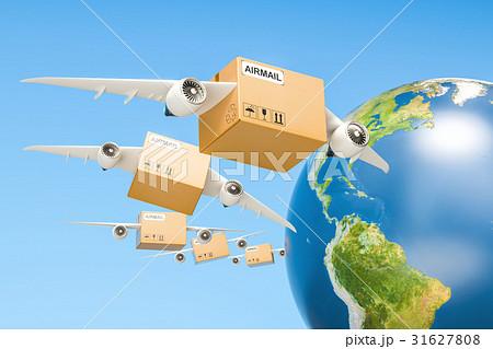 global air mail delivery concept parcels 31627808. Black Bedroom Furniture Sets. Home Design Ideas