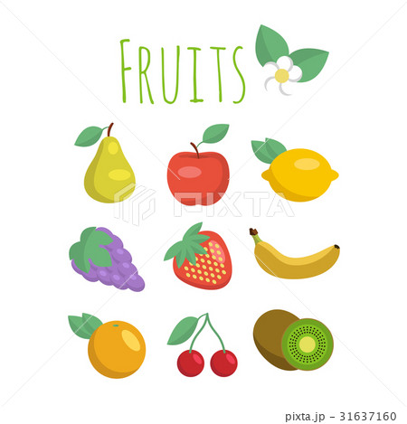 Set of vector fruit icons 31637160