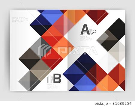 square annual report brochure a4 print templateのイラスト素材