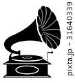 蓄音機 レトロ ベクターのイラスト 31640339