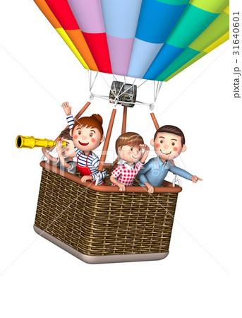 家族 気球 31640601
