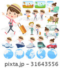 女性 人物 旅行のイラスト 31643556