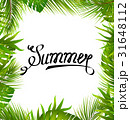 Lettering Text Summer with Border made in Palm 31648112