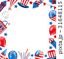 Colorful Border for American Holiday, Traditional 31648115