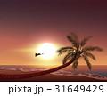 夕日 夕焼 日没のイラスト 31649429
