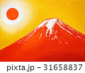Oil painting illustration,Red Mt.Fuji in June,2017 31658837