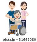 人物 車いす 介護のイラスト 31662080