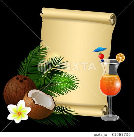 Coconut tropical nut fruitのイラスト素材 [31665730] - PIXTA