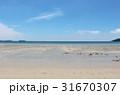 海 砂浜 波打ち際の写真 31670307