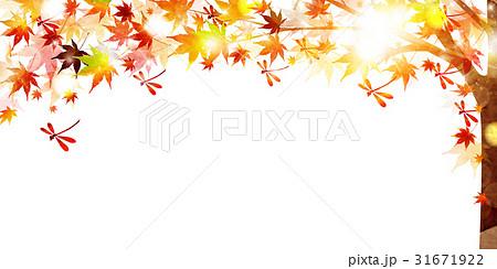 紅葉 秋 風景 背景 のイラスト素材 31671922 Pixta