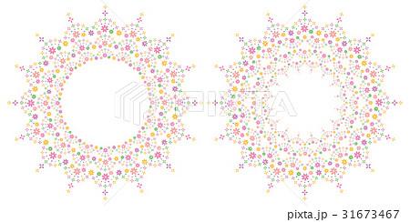 花 フレーム 背景 flower decoration frame,backgroundのイラスト素材 [31673467] - PIXTA
