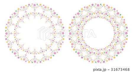 花 フレーム 背景 flower decoration frame,backgroundのイラスト素材 [31673468] - PIXTA